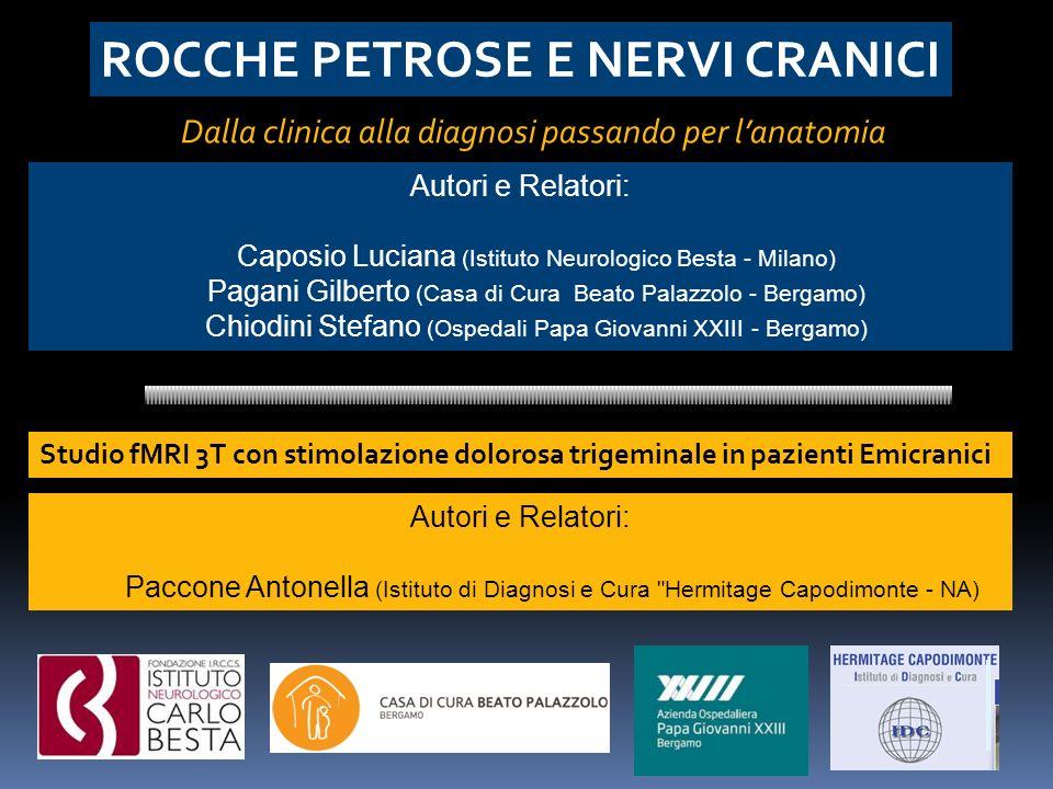 Autori e Relatori: Caposio Luciana (Istituto Neurologico Besta - Milano) Pagani Gilberto (Casa di Cura Beato Palazzolo - Bergamo) Chiodini Stefano (Os