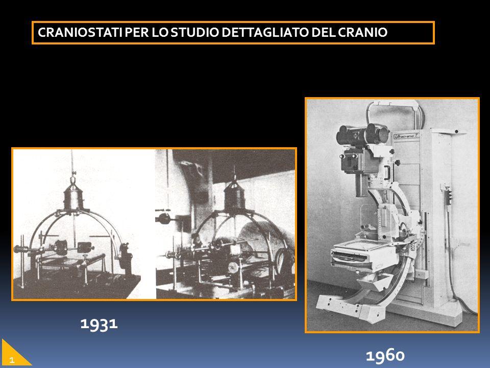 1931 CRANIOSTATI PER LO STUDIO DETTAGLIATO DEL CRANIO 1960 1