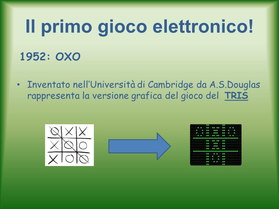Il primo gioco elettronico! 1952: OXO Inventato nellUniversità di Cambridge da A.S.Douglas rappresenta la versione grafica del gioco del TRIS