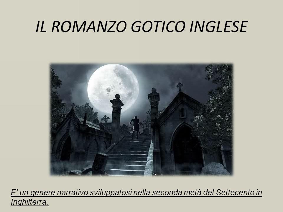IL ROMANZO GOTICO INGLESE E un genere narrativo sviluppatosi nella seconda metà del Settecento in Inghilterra.