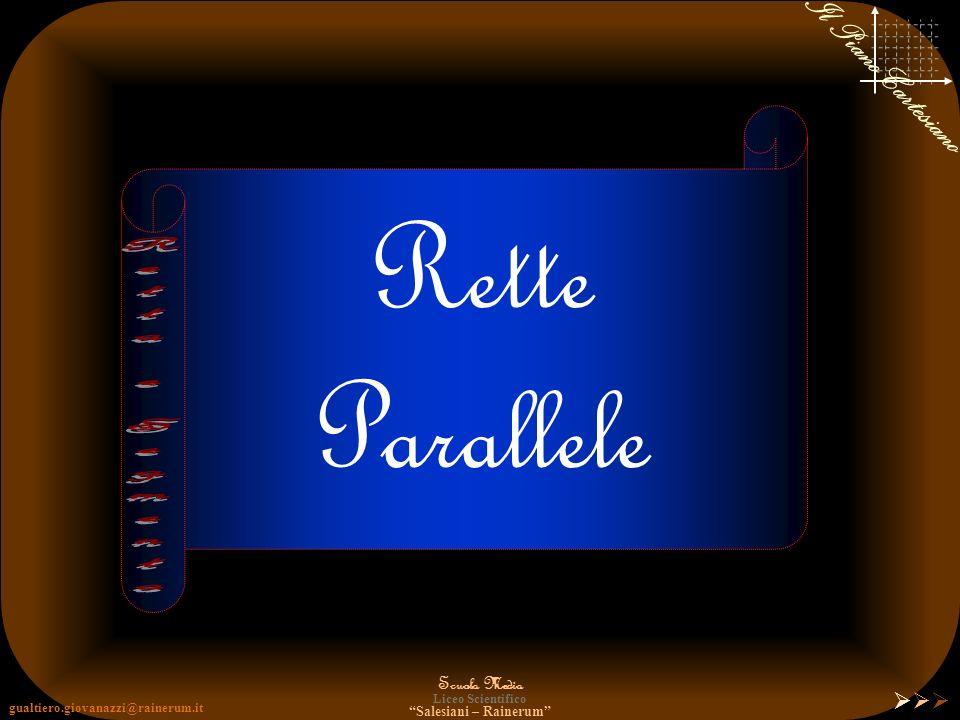 gualtiero.giovanazzi@rainerum.it Scuola Media Liceo Scientifico Salesiani – Rainerum Il Piano Cartesiano PIEDE dellALTEZZA Il PIEDE dellALTEZZA è il p