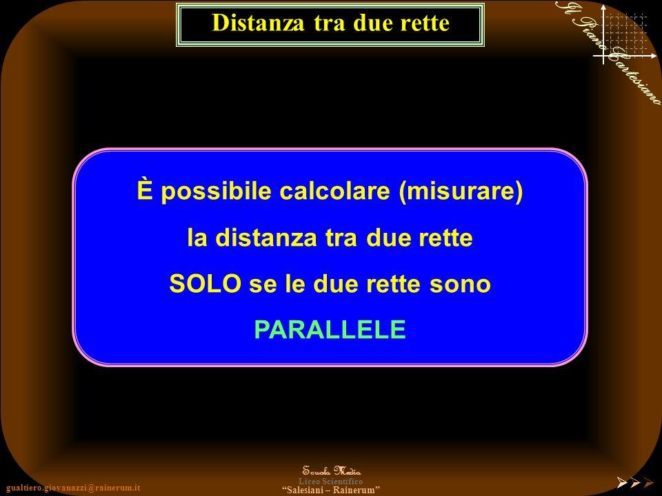 gualtiero.giovanazzi@rainerum.it Scuola Media Liceo Scientifico Salesiani – Rainerum Il Piano Cartesiano Distanza tra due Rette