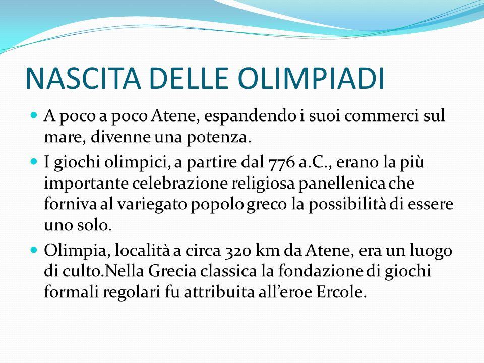 PROGRAMMA OLIMPICO Nel 708 a.C.