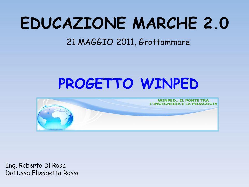 EDUCAZIONE MARCHE 2.0 21 MAGGIO 2011, Grottammare PROGETTO WINPED Ing.