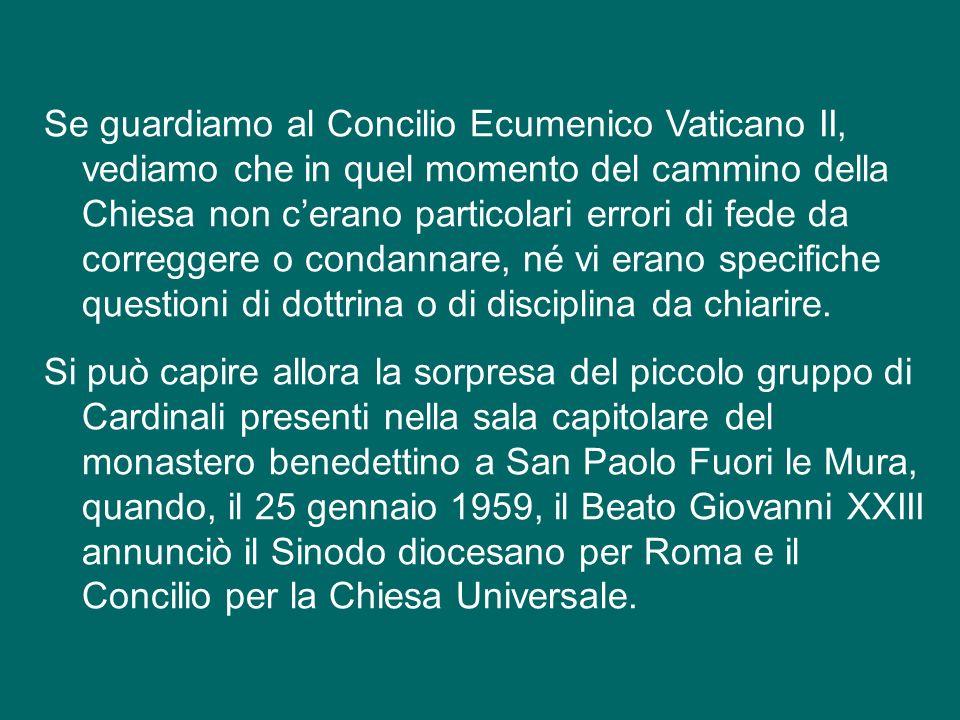 Per venire più vicino a noi, dobbiamo nominare il Concilio di Trento, nel XVI secolo, che ha chiarito punti essenziali della dottrina cattolica di fro
