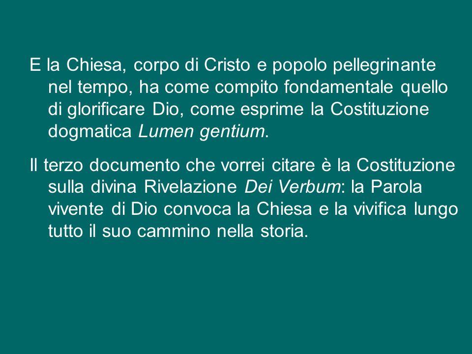 Guardando in questa luce alla ricchezza contenuta nei documenti del Vaticano II, vorrei solo nominare le quattro Costituzioni, quasi i quattro punti c