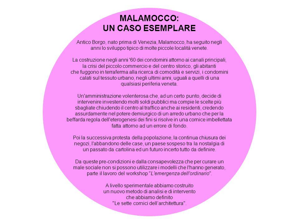 MALAMOCCO: UN CASO ESEMPLARE Antico Borgo, nato prima di Venezia, Malamocco, ha seguito negli anni lo sviluppo tipico di molte piccole località venete.