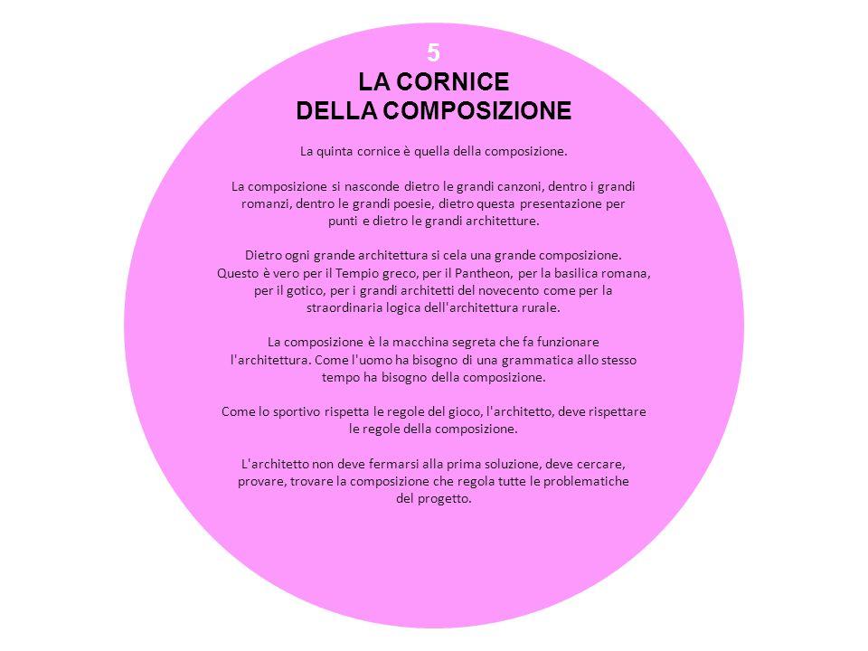 5 LA CORNICE DELLA COMPOSIZIONE La quinta cornice è quella della composizione. La composizione si nasconde dietro le grandi canzoni, dentro i grandi r