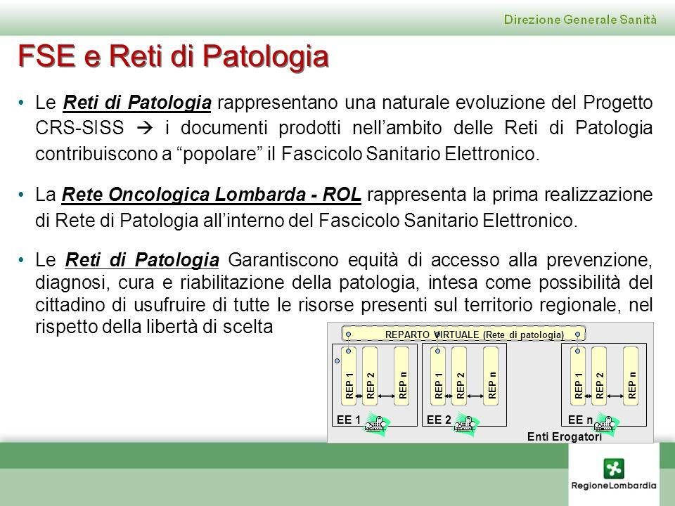 Le Reti di Patologia rappresentano una naturale evoluzione del Progetto CRS-SISS i documenti prodotti nellambito delle Reti di Patologia contribuiscon