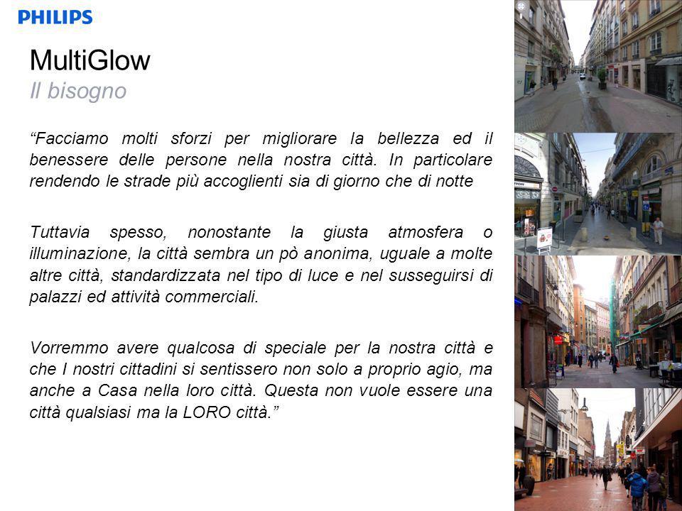 MultiGlow Il bisogno Facciamo molti sforzi per migliorare la bellezza ed il benessere delle persone nella nostra città.
