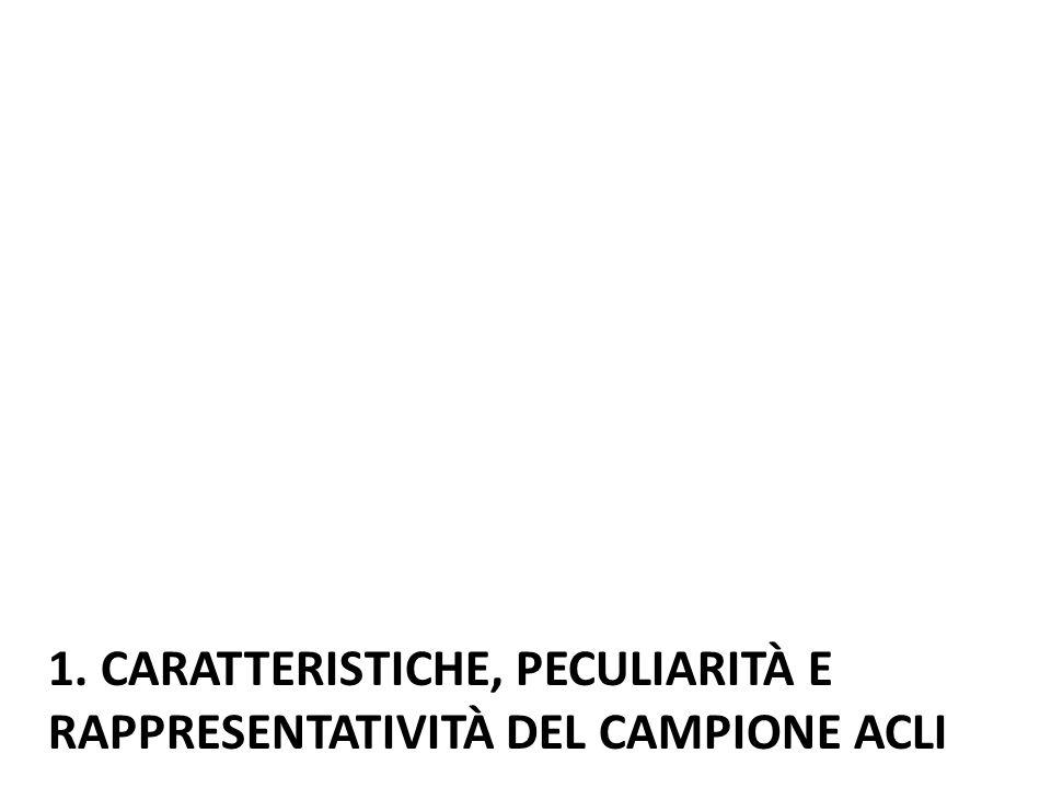 1. CARATTERISTICHE, PECULIARITÀ E RAPPRESENTATIVITÀ DEL CAMPIONE ACLI