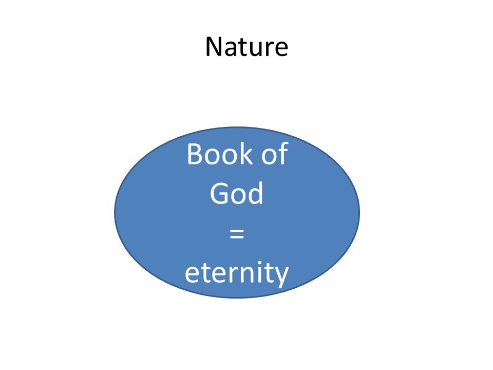 Nature Book of God = eternity