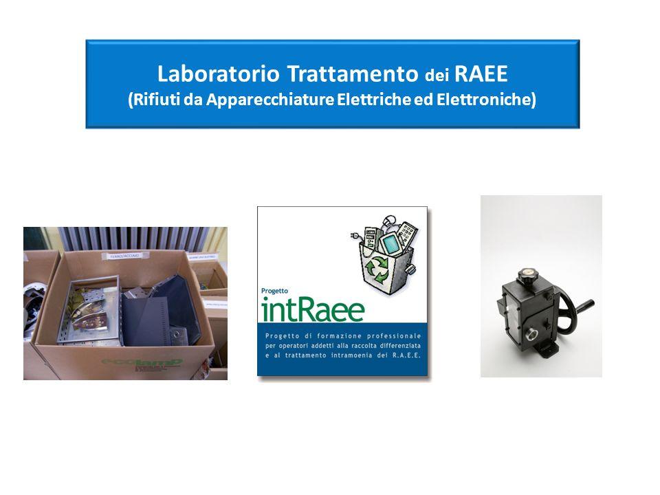Laboratorio Trattamento dei RAEE (Rifiuti da Apparecchiature Elettriche ed Elettroniche)