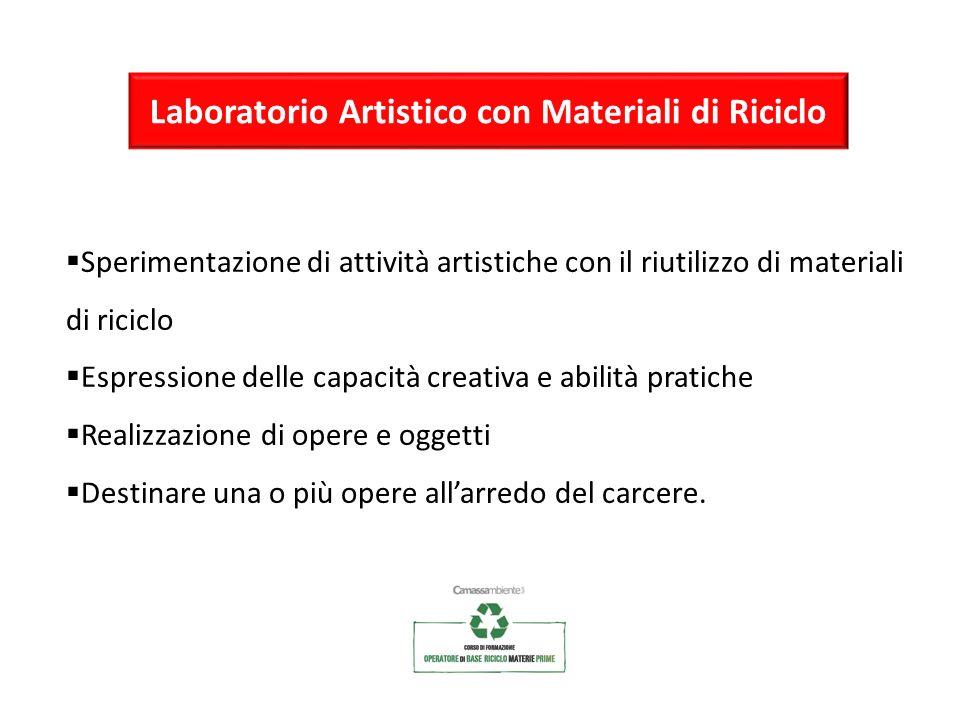 Laboratorio Artistico con Materiali di Riciclo Sperimentazione di attività artistiche con il riutilizzo di materiali di riciclo Espressione delle capa