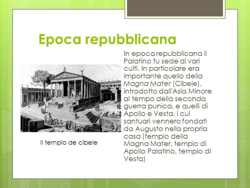 Storia del Palatino La leggenda vuole che Roma ebbe le sue origini sul Palatino. In effetti, scavi recenti hanno mostrato che delle popolazioni vi abi