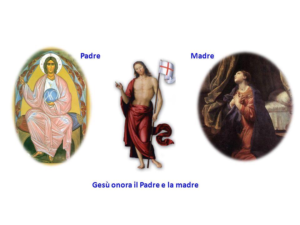 PadreMadre Gesù onora il Padre e la madre