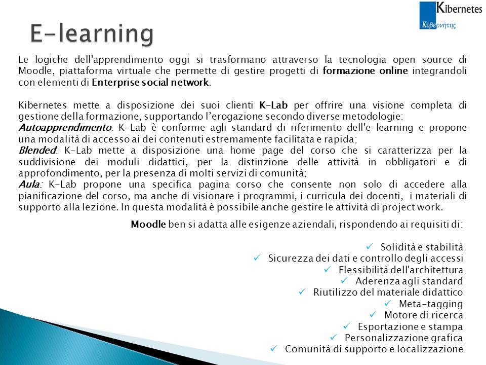 Le logiche dell apprendimento oggi si trasformano attraverso la tecnologia open source di Moodle, piattaforma virtuale che permette di gestire progetti di formazione online integrandoli con elementi di Enterprise social network.
