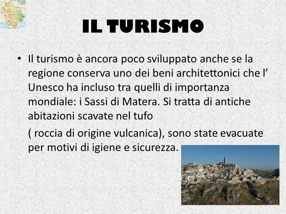 IL TURISMO Il turismo è ancora poco sviluppato anche se la regione conserva uno dei beni architettonici che l Unesco ha incluso tra quelli di importan