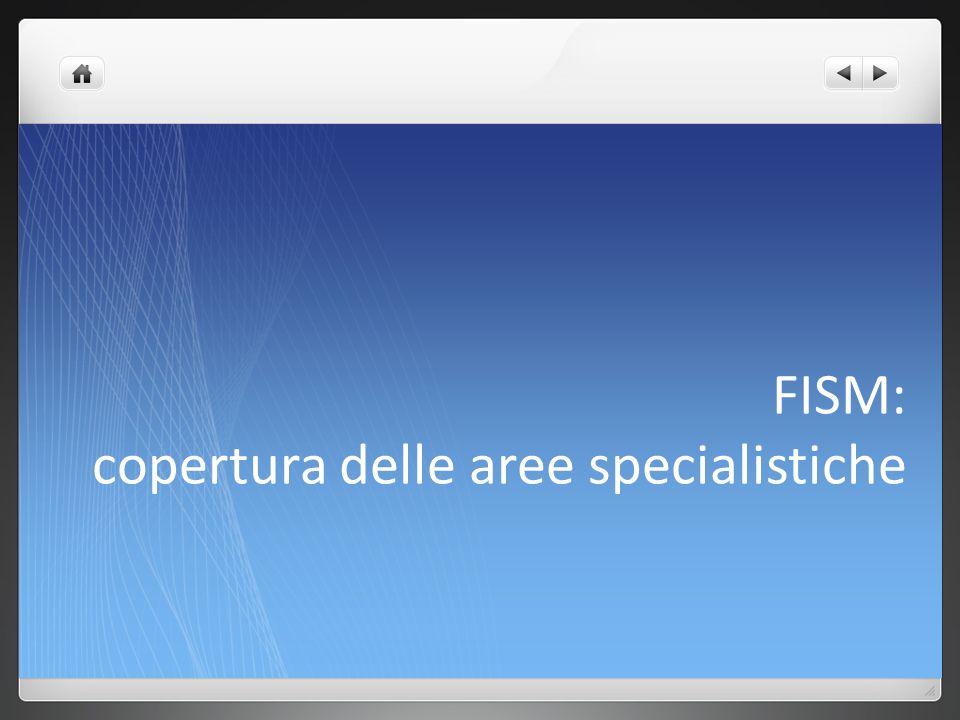 FISM: copertura delle aree specialistiche
