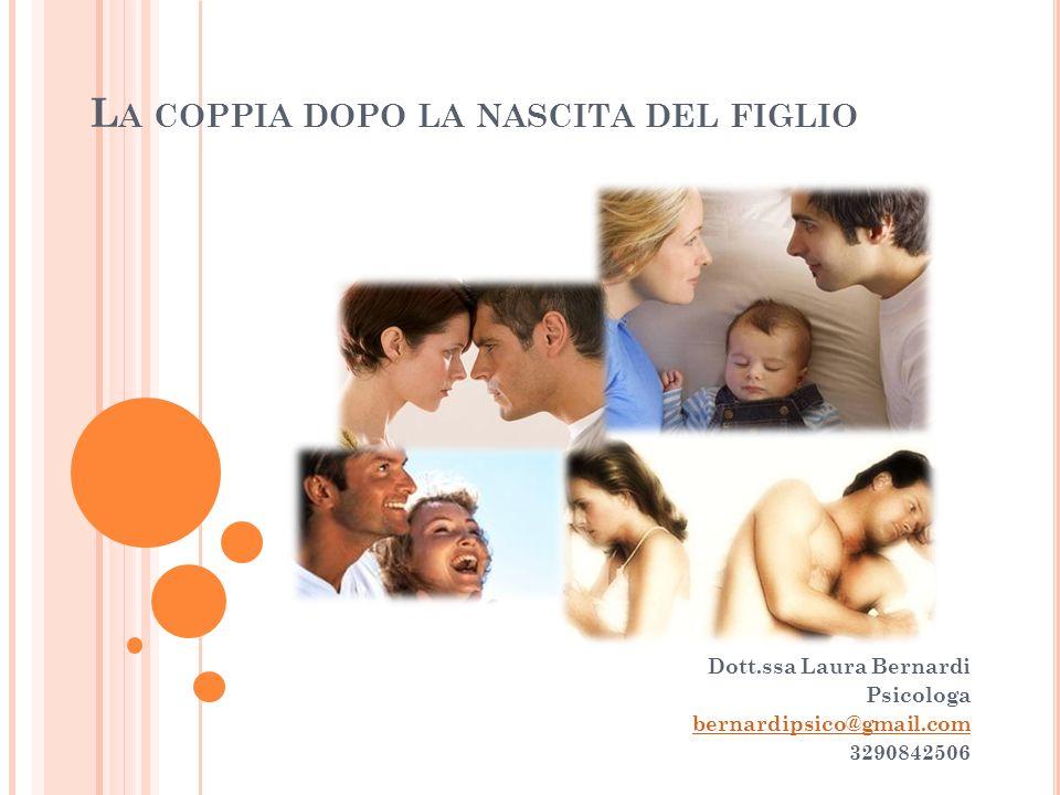 L A COPPIA DOPO LA NASCITA DEL FIGLIO Dott.ssa Laura Bernardi Psicologa bernardipsico@gmail.com 3290842506