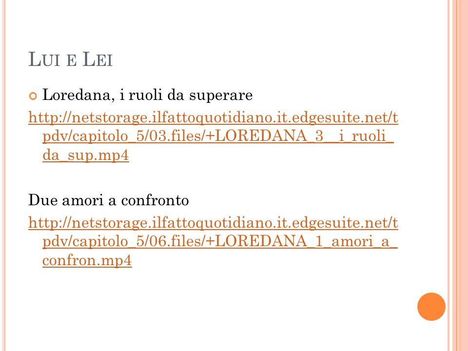 L UI E L EI Loredana, i ruoli da superare http://netstorage.ilfattoquotidiano.it.edgesuite.net/t pdv/capitolo_5/03.files/+LOREDANA_3__i_ruoli_ da_sup.