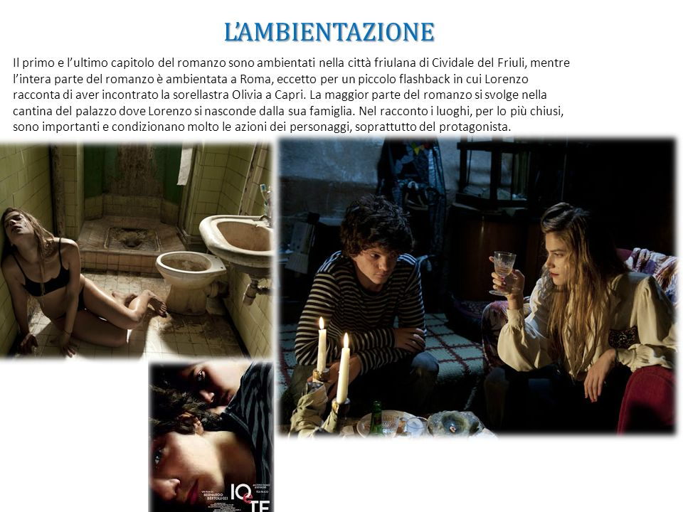 I TEMI E GLI SPUNTI INTERESSANTI CHE HAI TROVATO NEL ROMANZO La relazione tra Lorenzo e sua sorellastra Olivia.