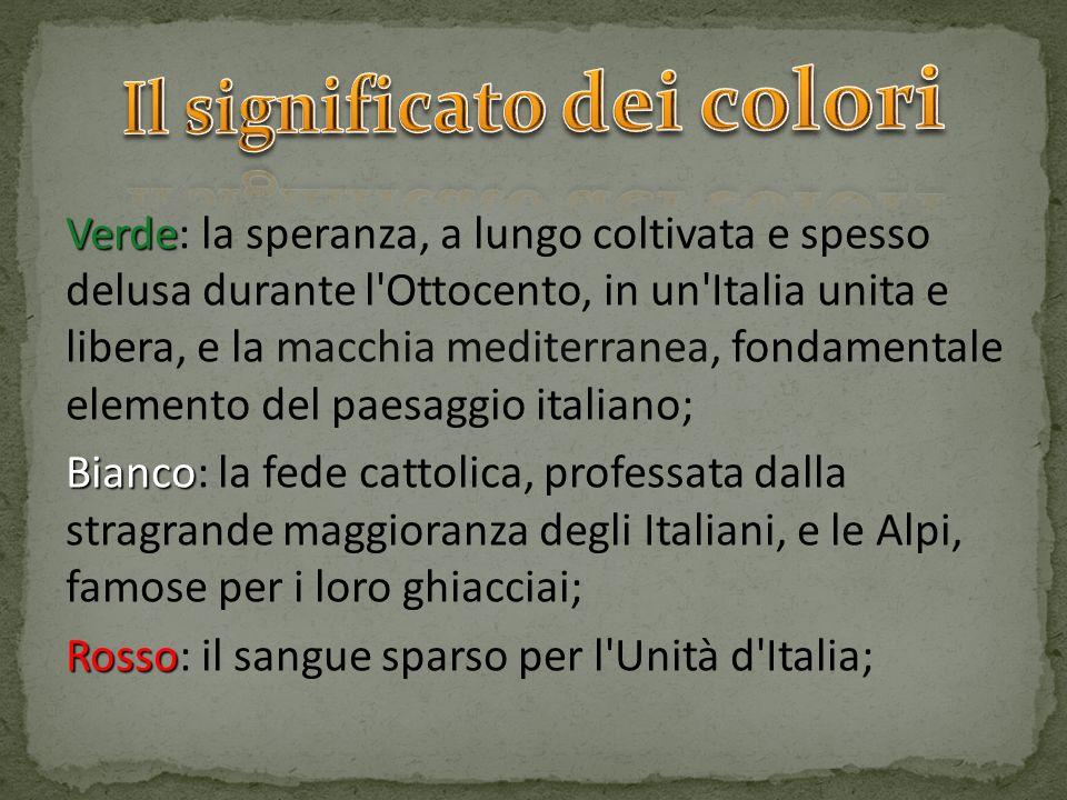 Verde Verde: la speranza, a lungo coltivata e spesso delusa durante l'Ottocento, in un'Italia unita e libera, e la macchia mediterranea, fondamentale