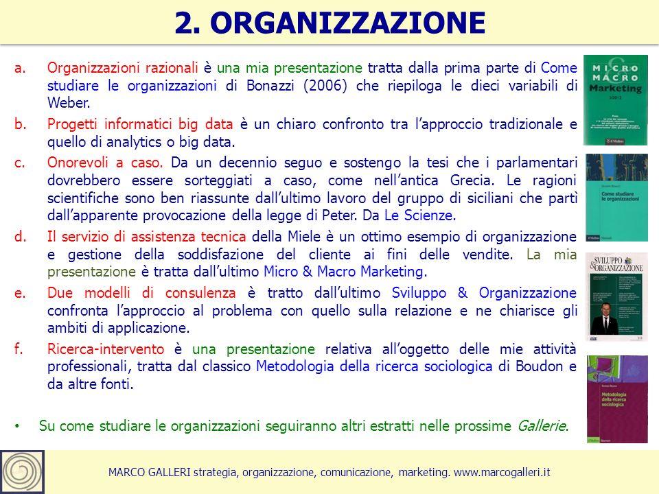 MARCO GALLERI strategia, organizzazione, comunicazione, marketing. www.marcogalleri.it a.Organizzazioni razionali è una mia presentazione tratta dalla