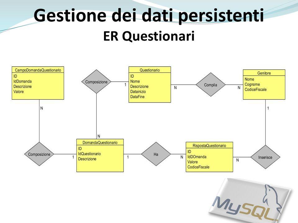 Gestione dei dati persistenti ER Questionari