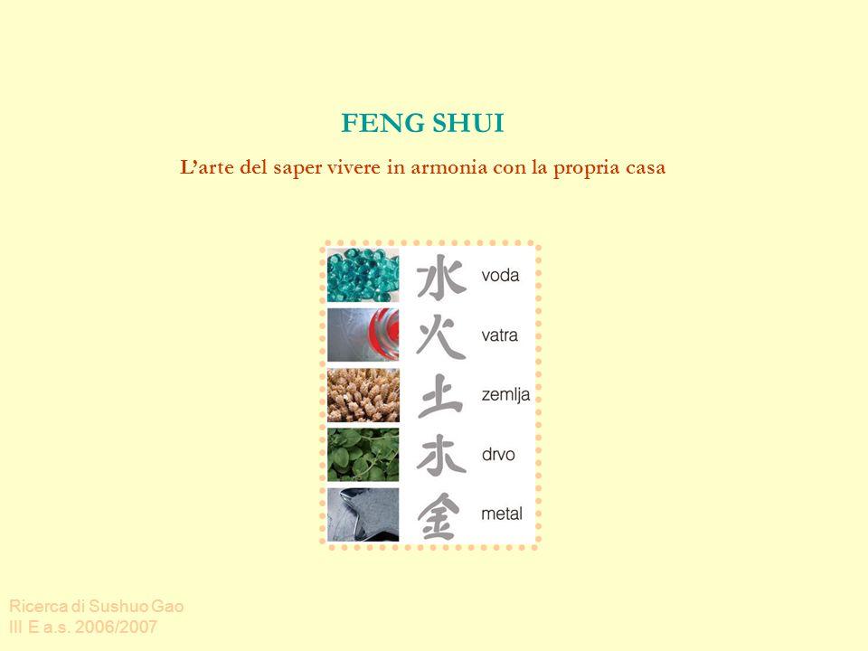 FENG SHUI Larte del saper vivere in armonia con la propria casa Ricerca di Sushuo Gao III E a.s.