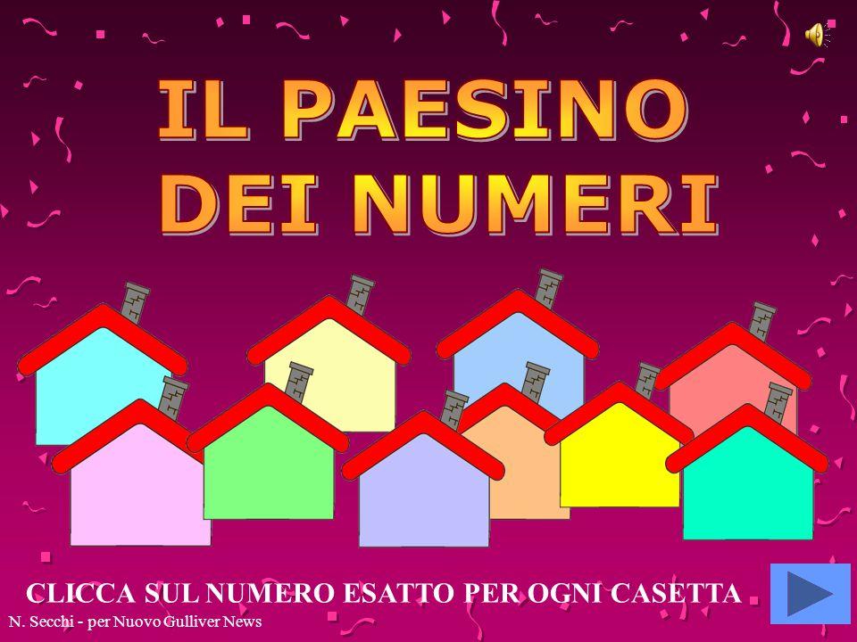 CLICCA SUL NUMERO ESATTO PER OGNI CASETTA N. Secchi - per Nuovo Gulliver News
