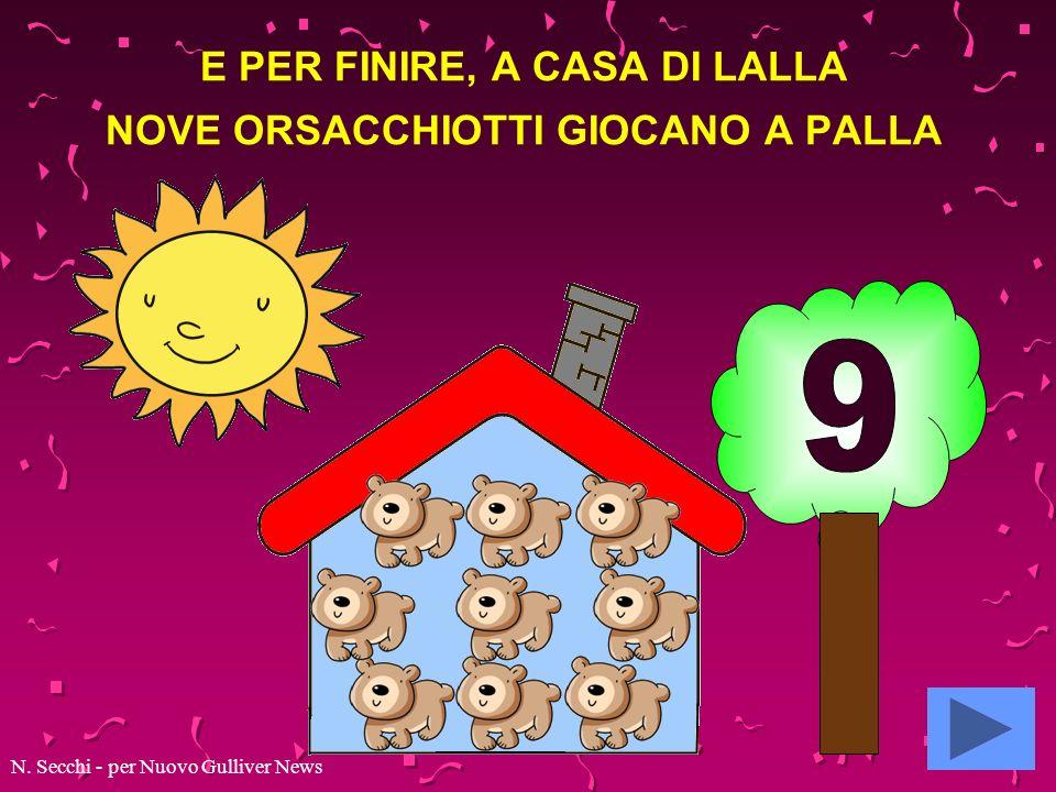 E PER FINIRE, A CASA DI LALLA NOVE ORSACCHIOTTI GIOCANO A PALLA