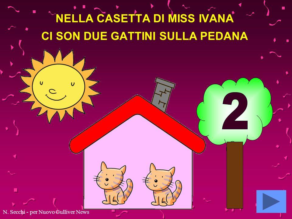 NELLA CASETTA DI MISS IVANA CI SON DUE GATTINI SULLA PEDANA N. Secchi - per Nuovo Gulliver News