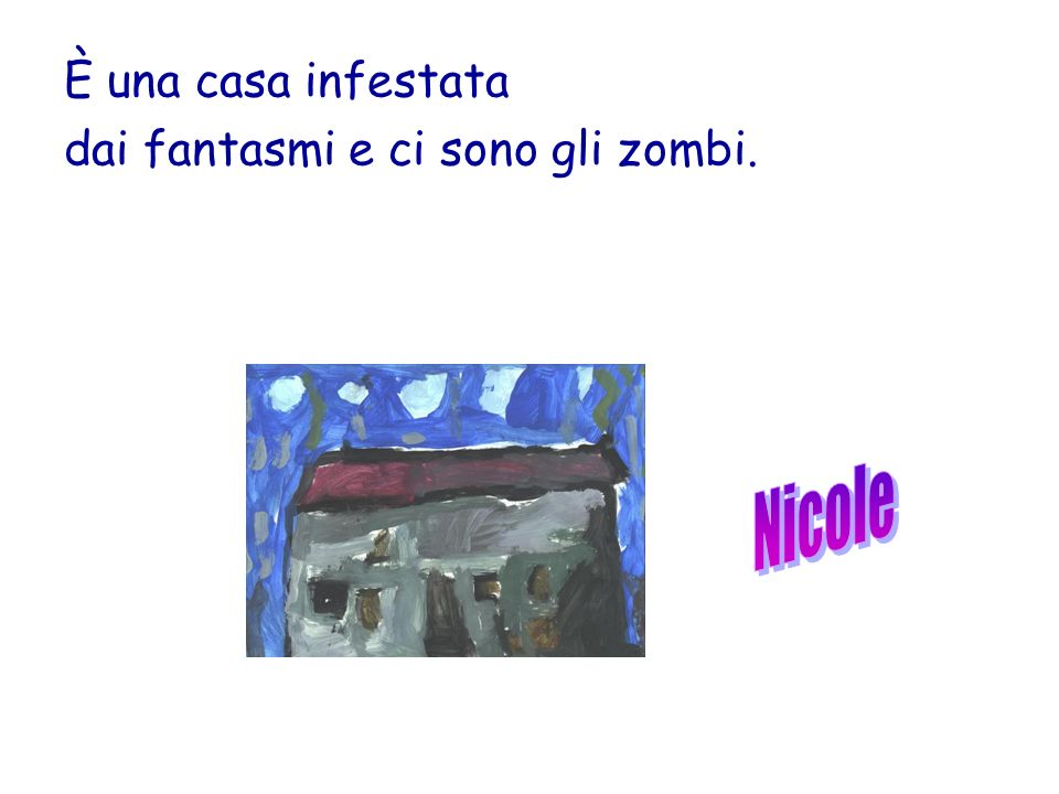 È una casa infestata dai fantasmi e ci sono gli zombi.