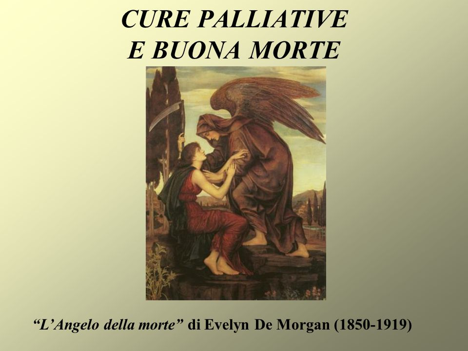 CURE PALLIATIVE E BUONA MORTE LAngelo della morte di Evelyn De Morgan (1850-1919)