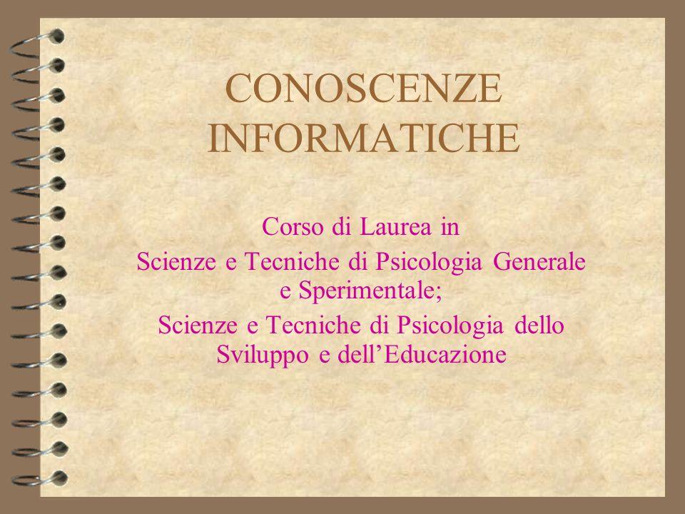 IntroduzioneConoscenze Informatiche2 Contattare i docenti Prof.
