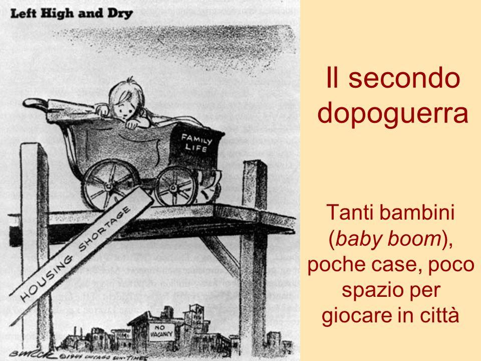 Il secondo dopoguerra Tanti bambini (baby boom), poche case, poco spazio per giocare in città