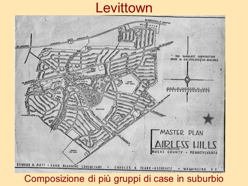Levittown Composizione di più gruppi di case in suburbio