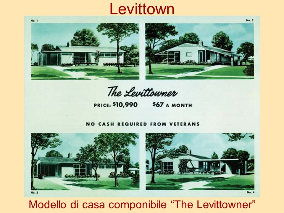 Levittown Modello di casa componibile The Levittowner