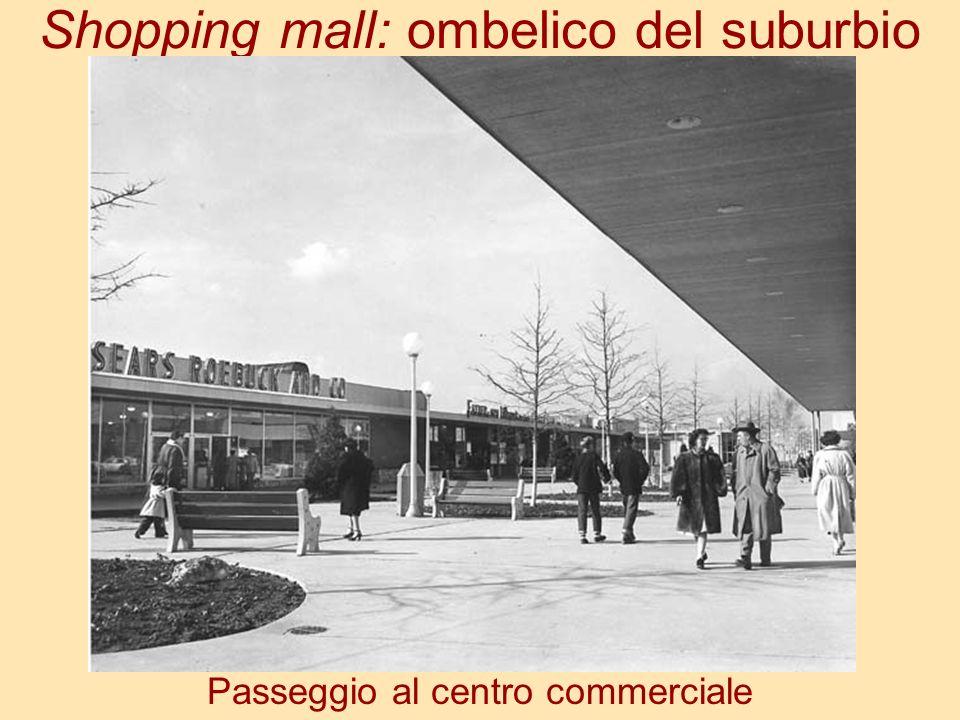 Shopping mall: ombelico del suburbio Passeggio al centro commerciale