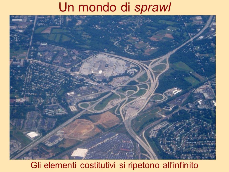 Un mondo di sprawl Gli elementi costitutivi si ripetono allinfinito