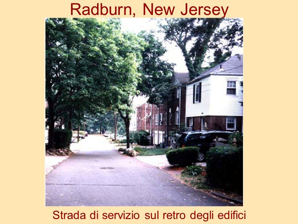 Radburn, New Jersey Strada di servizio sul retro degli edifici