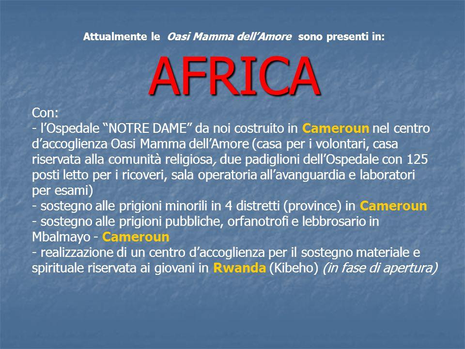 Nel 2008 visita di Sua Eccellenza Reverendissima il Nunzio Apostolico del Cameroun e Guinea Equatoriale MONS.