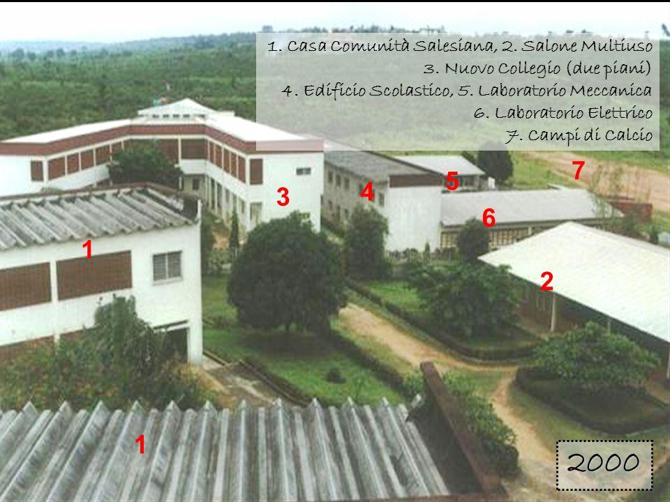 1 1 3 4 6 5 2 7 1. Casa Comunità Salesiana, 2. Salone Multiuso 3. Nuovo Collegio (due piani) 4. Edificio Scolastico, 5. Laboratorio Meccanica 6. Labor