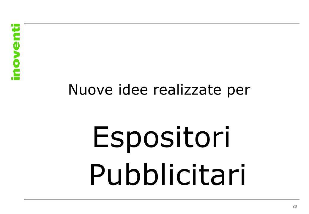 28 Espositori Pubblicitari Nuove idee realizzate per