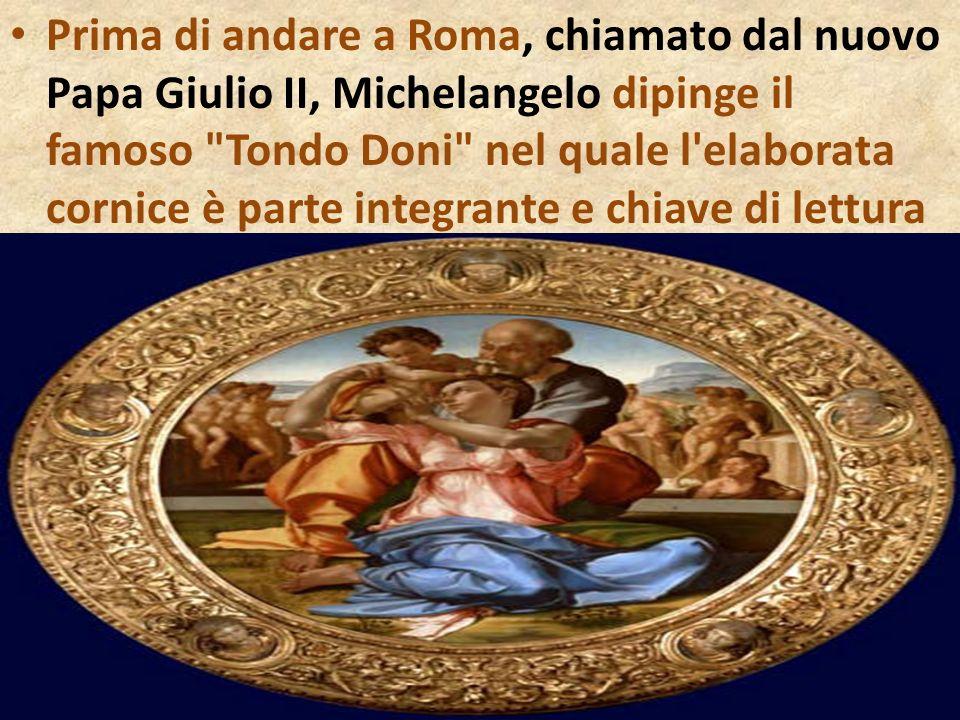 Prima di andare a Roma, chiamato dal nuovo Papa Giulio II, Michelangelo dipinge il famoso