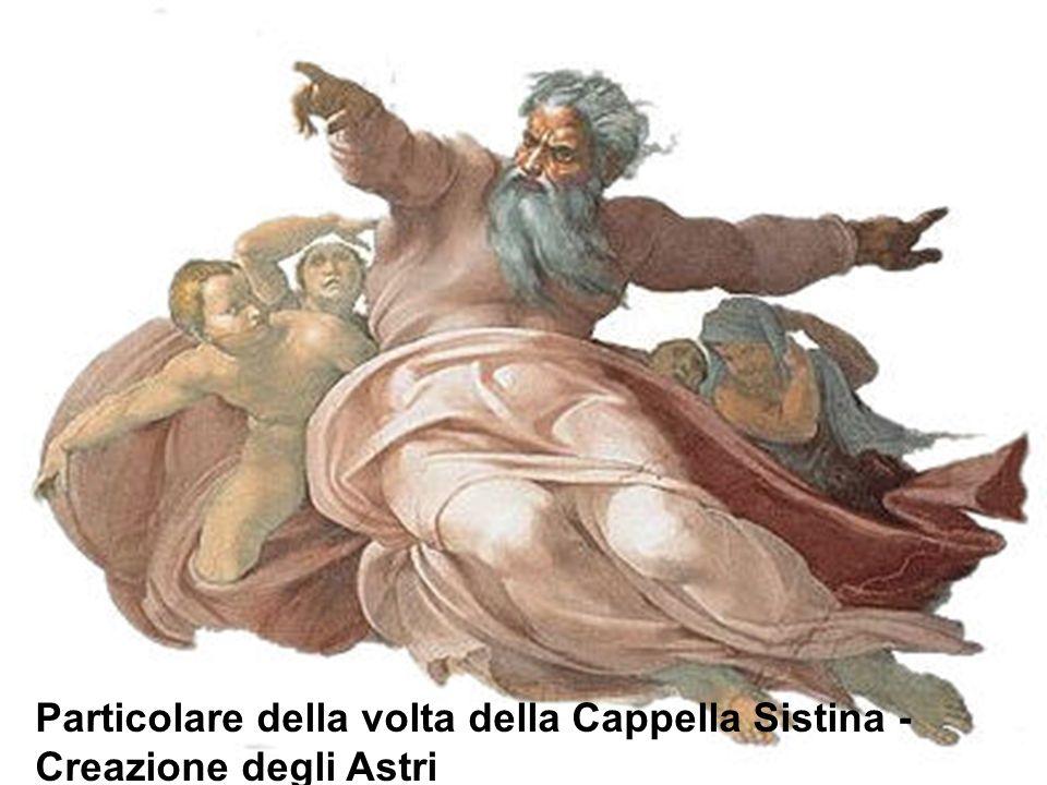 Particolare della volta della Cappella Sistina - Creazione degli Astri