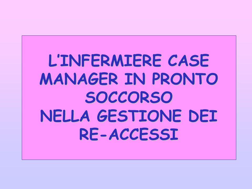 LINFERMIERE CASE MANAGER IN PRONTO SOCCORSO NELLA GESTIONE DEI RE-ACCESSI