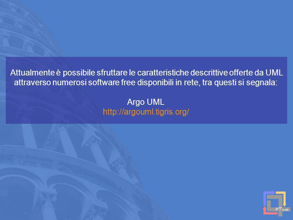 Attualmente è possibile sfruttare le caratteristiche descrittive offerte da UML attraverso numerosi software free disponibili in rete, tra questi si s