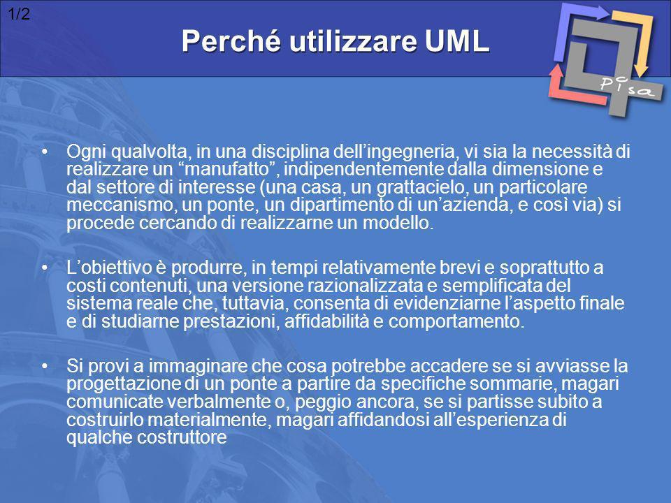 Il risultato sarebbe il seguente: 2/2 Perché utilizzare UML